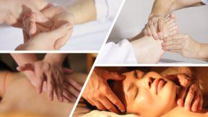 Photos de Shiatsu, pression des doigts sur le corps