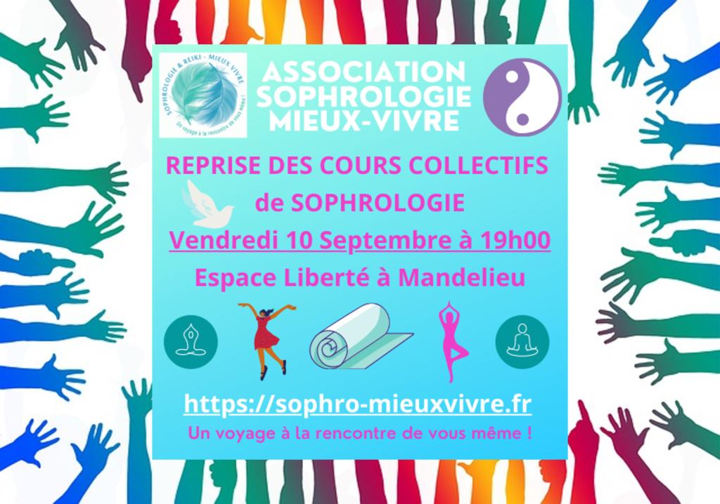 Reprise des séances collectives de Sophrologie à Mandelieu